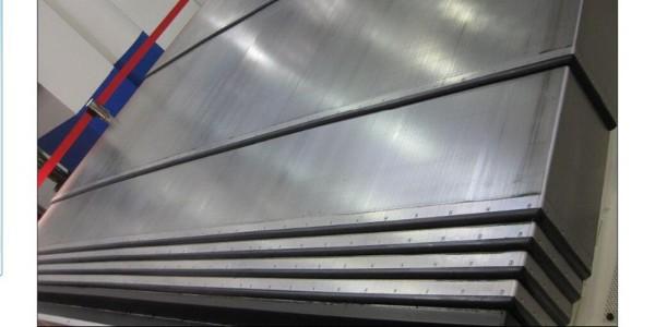 机床钢板导轨防护罩生产现场