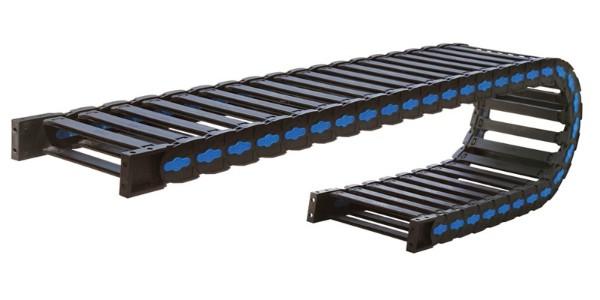 桥式塑料拖链太长加支撑轮能解决问题吗?