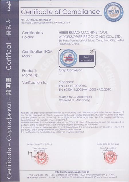CE chip conveyor
