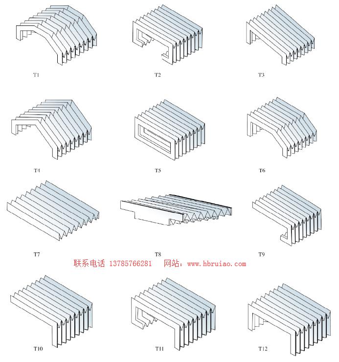 风琴防护罩形状
