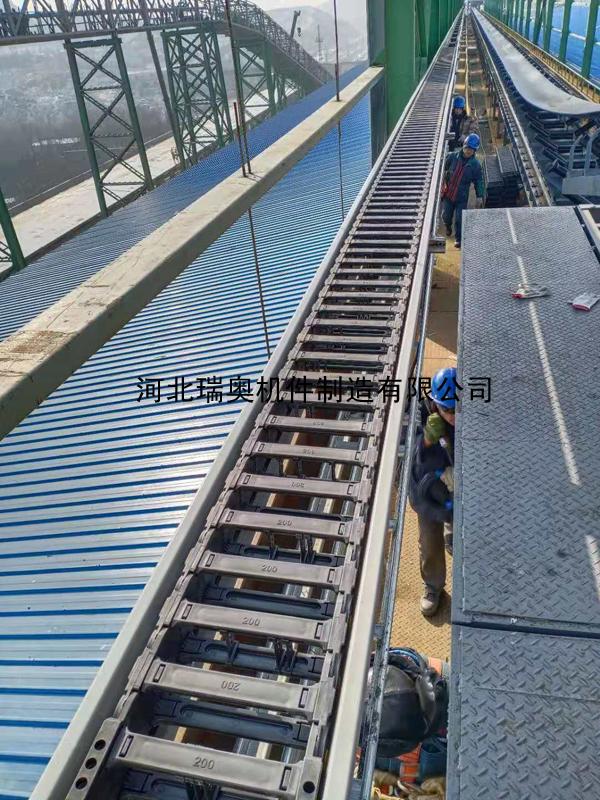 工程塑料拖链超长使用 安装现场